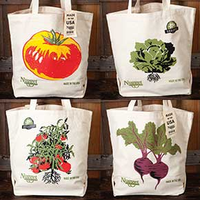 Nugget Markets reusable canvas bags