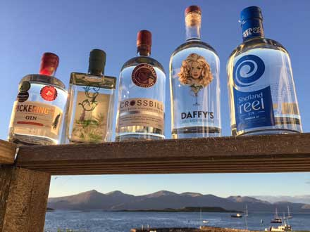 A brave new world of Scottish gins at The Pierhouse Hotel and Seafood Restaurant