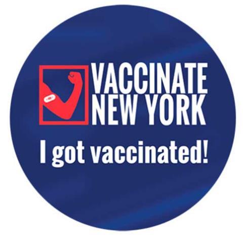 Vaccinate New York sticker