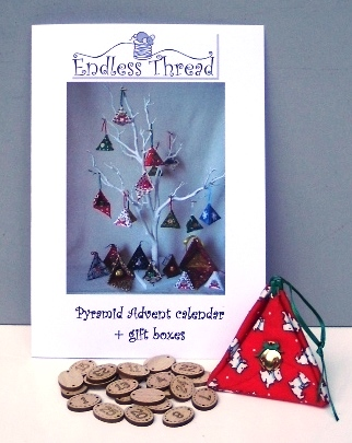 Pyramid Advent calendar and numbered buttons