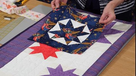 8 pointed Star quilt with Valerie Nesbitt