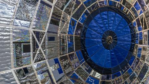 Hadron Collider quilts from Kate Findlay