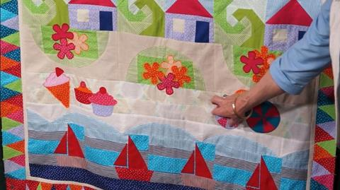 Sandy Beach Row of Jennie's Stripy Stripey Story Quilt