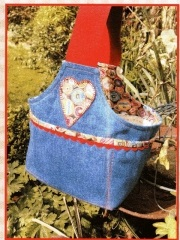 Denim Makers Bucket pattern designed by Mandy Shaw