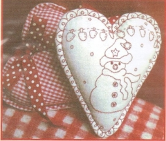 Xmas Hanging Hearts Kit - Let it Snow - designed by Mandy Shaw