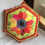 Full Bloom cushion pattern from LIna Patchwork