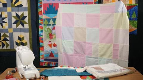 Finishing Jennie's Stripy Stripey Story Quilt