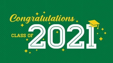 Congratulations graphic for spring convocation 202