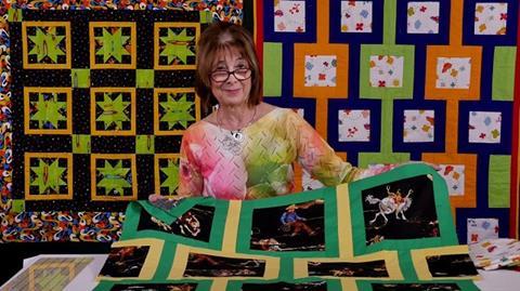 Postcard quilt from Valerie Nesbitt
