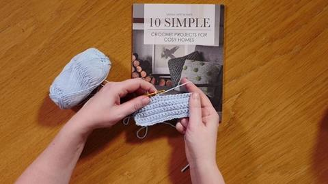 Double Crochet for left handers with Sarah Hatton
