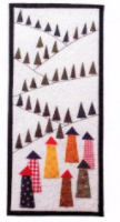 Village in the Alps - Minature quilt kit designed by Julia Gahagan