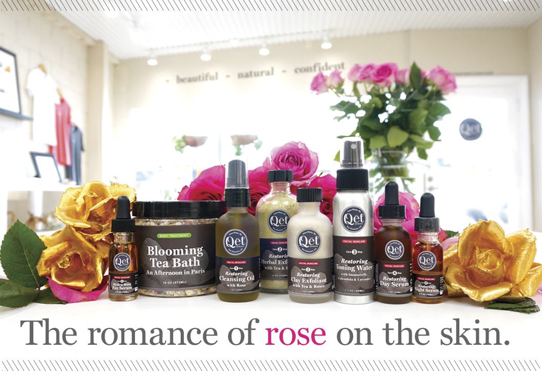 Qēt Botanicals rose skin care