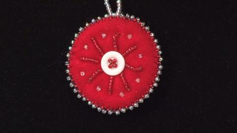 Beaded Christmas Decoration from Fran Rose