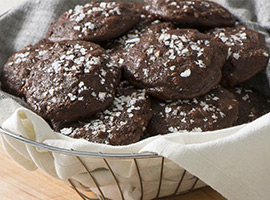 Picture of: Gluten-Free Chocolate Pecan Cottage Cheese Cookies