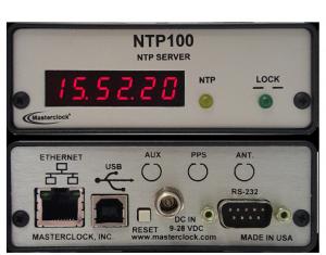 NTP100-GPS NTP Server - MASTERCLOCK