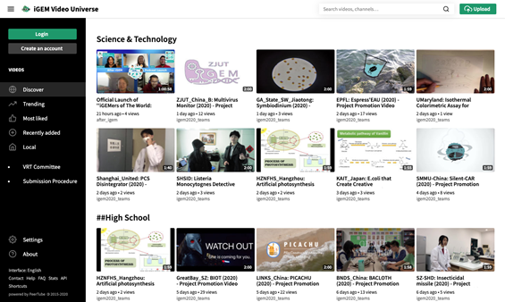 img: screenshot from the iGEM Video Universe