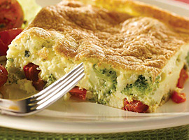 Picture of: Puffy Broccoli and Red Pepper Frittata