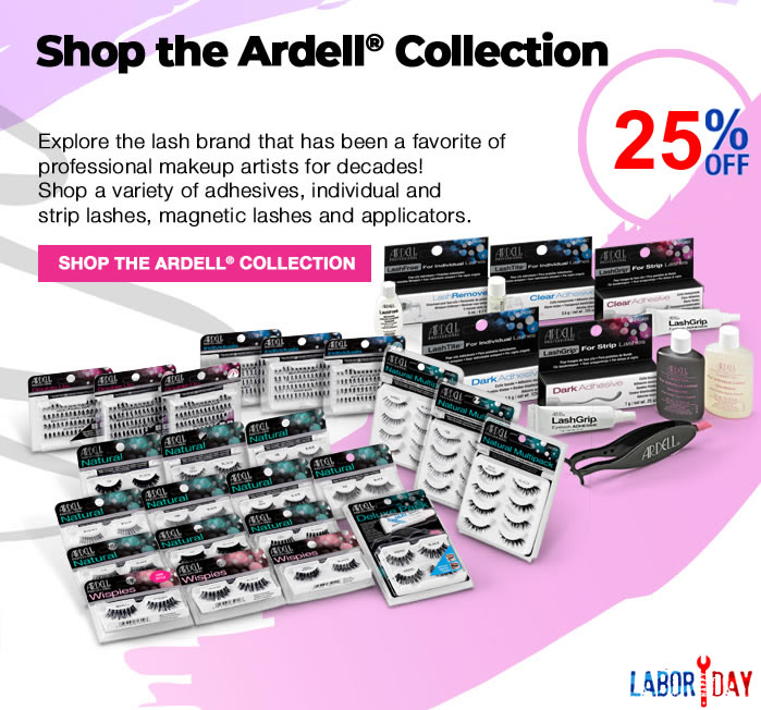 Save MASSIVE 33% Off Red Cherry Lashes, Stacked Cosmetic Lashes and Bullseye Lashes with Promo code 3333 at checkout. Or use Promo code 2525 to save 25% Off Ardell, Andrea and DUO line of lashes.