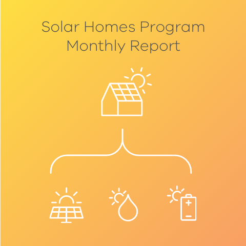 Solar Homes Program monthly reports