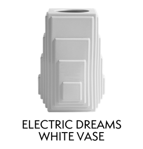 Electric Dreams White Vase