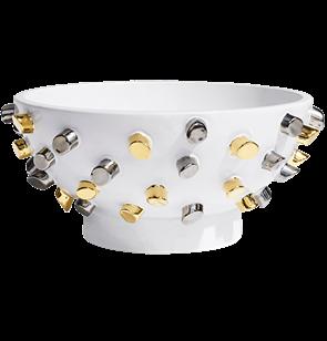 Liza Ceramic Bowl Metallics