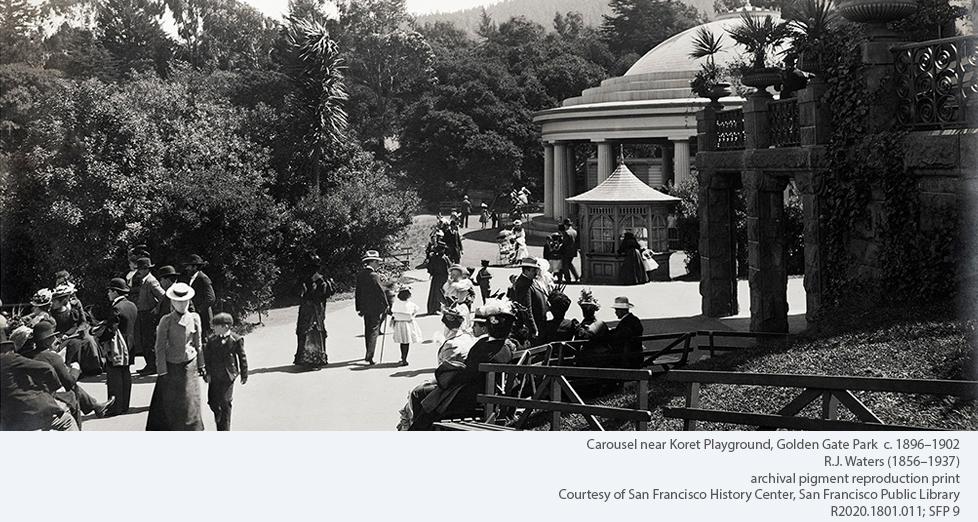 Carousel near Koret Playground, Golden Gate Park c. 1896-1902