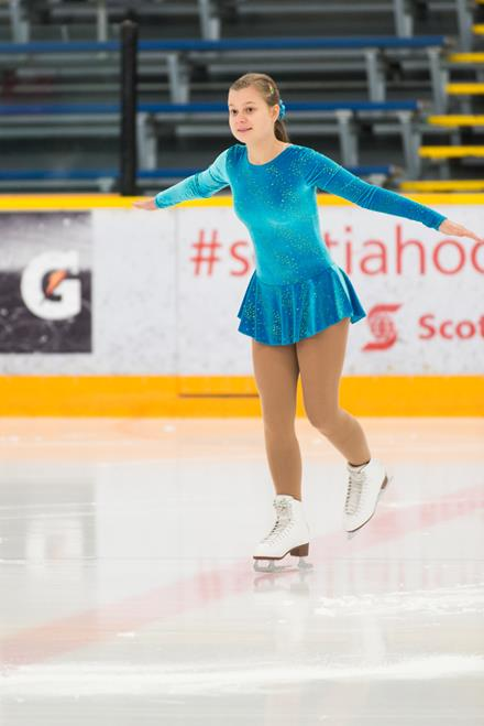 Special Olympics Team BC figure skater Stephanie Divin