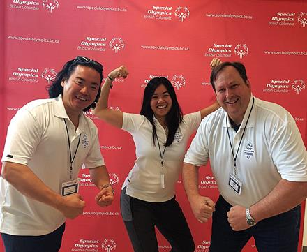 Special Olympics Team BC 2018 powerlifting coaches