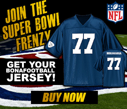 Join the Super Bowl Frenzy! Get your BonaFootball Jersey! Buy now