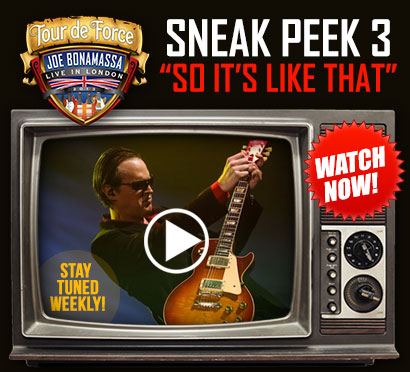 New video from Bonamassa's Tour de Force, 'So It's Like That'. Also get a FREE download of the song 'Albion'. Click to watch video and get your mp3!