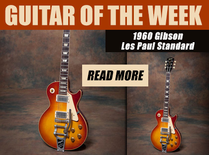Joe Bonamassa's Guitar and Amp of the Week. 1960 Gibson Les Paul Standard. Read more.