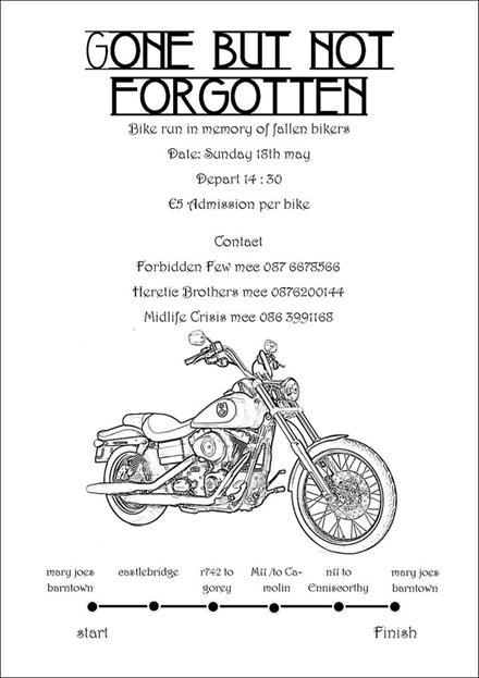 Gone but Not Forgotten Bike Run