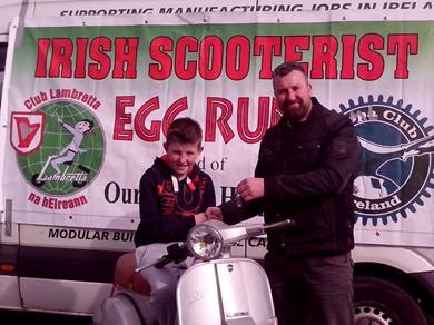 annual Irish Scooterists Easter Egg Run