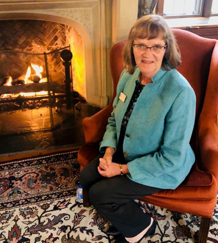 CEO Dianne Schultz at a 2019 fireside chat.
