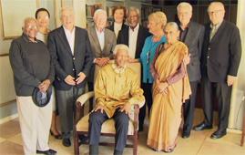 The Elders reunited with Nelson Mandela